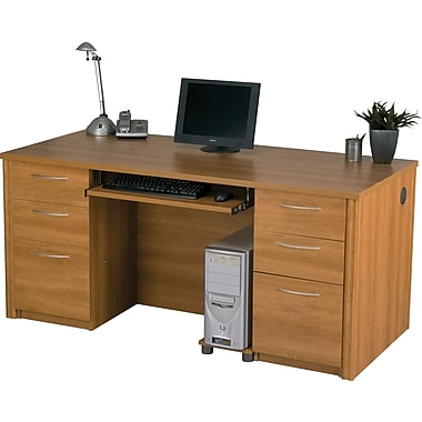 Bestar Embassy Executive Desk Kit, Cappuccino Cherry