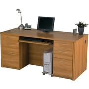 Bestar Embassy Double Pedestal Executive Desk, Cappuccino Cherry