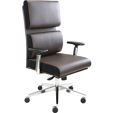 Tempur-Pedic Leather Executive Chair, Brown (TP1000)