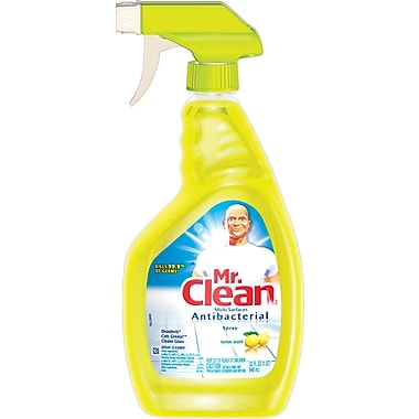 Mr Clean Antibacterial Multi Surface Cleaner, Lemon Scent, 32 oz.