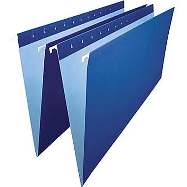 Staples® – Chemises suspendues de couleur, format légal, 8 1/2 po x 14 po, bleu marine