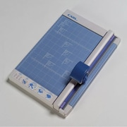 """Carl® 12"""" Professional Rotary Paper Trimmer, 15 Sheet Capacity, Gray/Blue"""