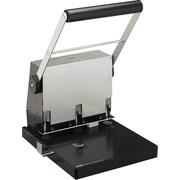 CARL XHC-3300N Heavy-Duty 3-Hole Punch, 300 Sheets/20 lb., Black/Silver