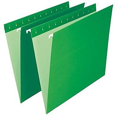 Staples® – Chemises suspendues de couleur, format lettre, 8 1/2 po x 11 po, vert vif