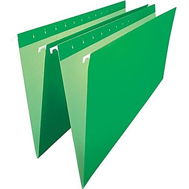 Staples® – Chemises suspendues de couleur, format légal, 8 1/2 po x 14 po, vertes
