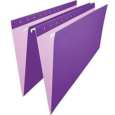 Staples® – Chemises suspendues de couleur, format légal, 8 1/2 po x 14 po, violettes