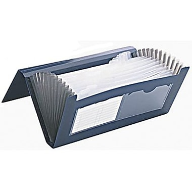 Winnable Poly Expanding File, 13-Pocket, Cheque, Blue