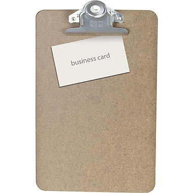 OIC® Recycled Hardboard Clipboard, Brown, Letter, 6in. x 9in.