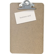 "OIC® Recycled Hardboard Clipboard, Brown, Letter, 6"" x 9"""