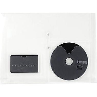 Staples® - Enveloppes transparentes en poly, fermeture à ficelle, ouverture latérale, format lettre