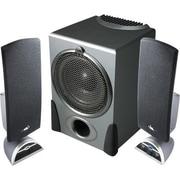 Cyber Acoustics CA-3550, 3-Piece Flat Panel Subwoofer Speaker System