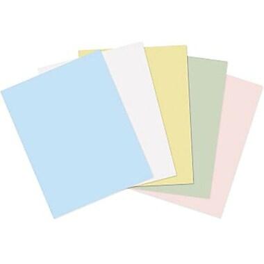 Staples® - Papier à couverture couleur pastel, 8 1/2 po x 11 po, couleurs variées, paq./125