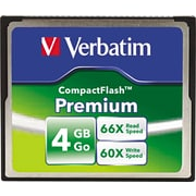 Verbatim Premium CompactFlash Card, 4GB
