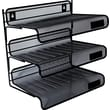 "Universal Mesh Three-tier Desk Shelf, 12 1/2"" H x 12 1/2"" W x 9 1/4"" D"