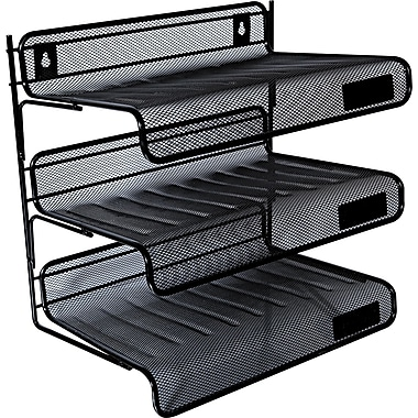 Universal Mesh Three-tier Desk Shelf, 12 1/2in. H x 12 1/2in. W x 9 1/4in. D