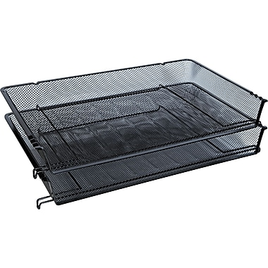 Universal Mesh Stackable Side Load Tray, 2 1/2in. H x 16 3/4in. W x 2in. D