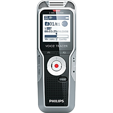 Philips Electronics 4 3/5in. H x 1 3/5in. W x 4/5in. D Digital Voice Recorder, 4 GB