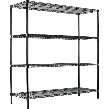 Alera® Wire Shelving Starter Kit, 72in. H x 60in. W x 18in. D