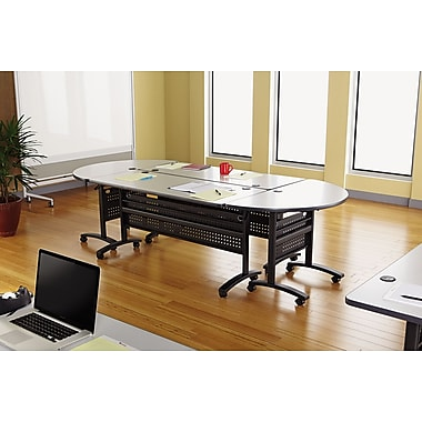 Alera® Valencia Series 48in. W x 24in. D Laminate Rectangular Table Top, Speckled Gray