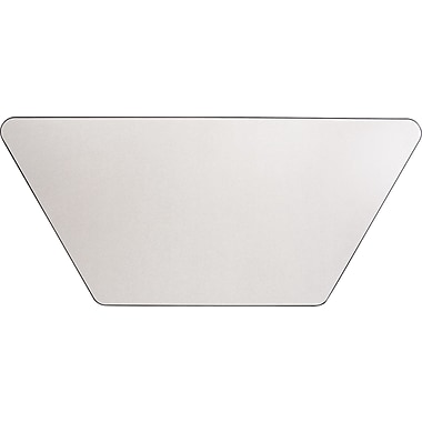 Alera® Valencia Series 48in. W x 24in. D Laminate Trapezoid Table Top, Speckled Gray