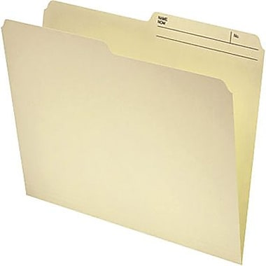 Staples® Recycled File Folder, 1/2-Cut, Legal Size, 11 pt., Manila, 250/Box