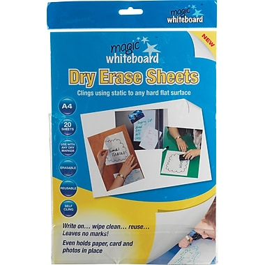 Magic Whiteboards Magic Whiteboard 20 White Sheets