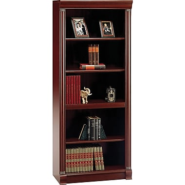 Bush® Birmingham Collection 5-shelf Bookcase, Harvest Cherry