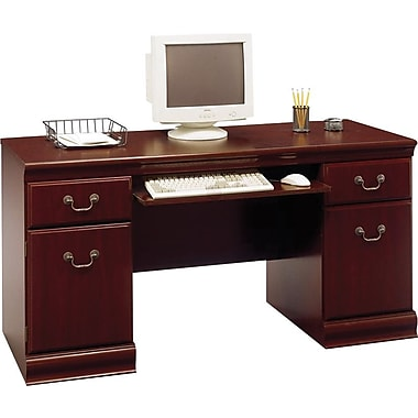 Bush® Birmingham Collection Credenza, Harvest Cherry