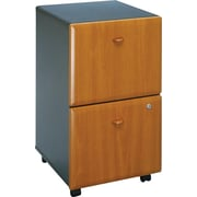 Bush Cubix 2-Drawer File Cabinet, Natural Cherry and Slate Gray