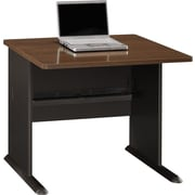 "Bush® Cubix Collection 36"" Desk, Sienna Walnut & Bronze"