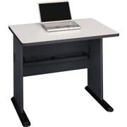 "Bush Cubix 36"" Desk,Slate Gray and White Spectrum"
