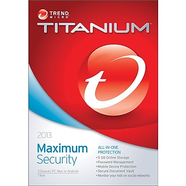 Trend Micro Titanium Maximum Security 2013 for Windows