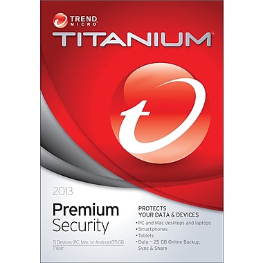 Trend Micro Titanium Premium Security 2013 for Windows (1-5 User) [Key Card]