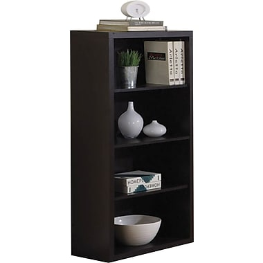 Monarch Specialties Bookcase with Adjustable Shelves, Cappuccino