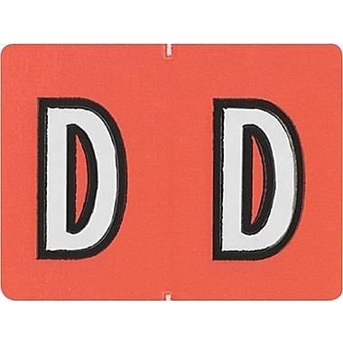 Oxford® – Étiquettes alphabétiques compatibles Datafile®, « D », orange