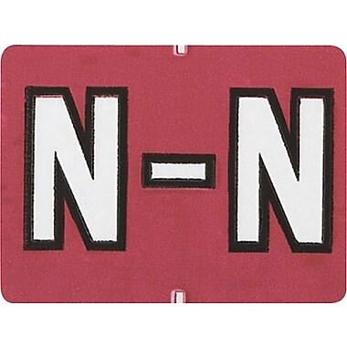 Oxford® – Étiquettes alphabétiques compatibles Datafile®, « N », rouge
