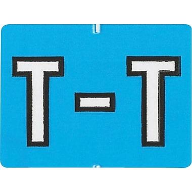 Oxford® – Étiquettes alphabétiques compatibles Datafile®, « T », bleu cl