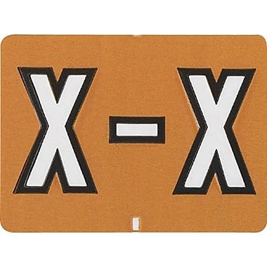 Oxford® – Étiquettes alphabétiques compatibles Datafile®, « X », brun cl