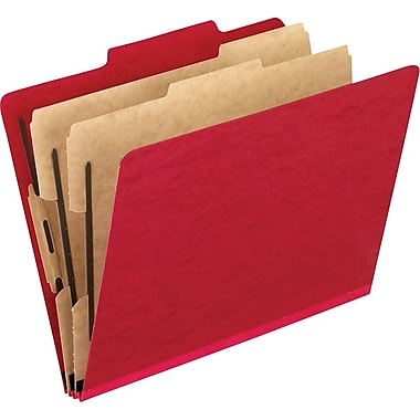 Pendaflex® Coloured Classification Folder with # 1 and 3 Fastener Position, Legal, Red
