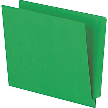 Pendaflex® Reinforced Coloured End-Tab File Folders, Letter Size, Green