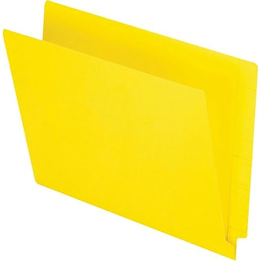 Pendaflex® Reinforced Coloured End-Tab File Folders, Letter Size, Yellow