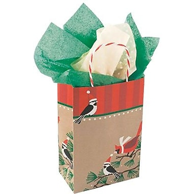 Snowbirds on Kraft Shopping Bag, 5-1/2in.W x 3-1/4in.D x 8-3/8in.H