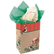 "Snowbirds on Kraft Shopping Bag, 5-1/2""W x 3-1/4""D x 8-3/8""H"