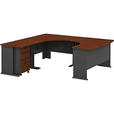 Bush Cubix Complete U-Desk - Hansen Cherry/Galaxy