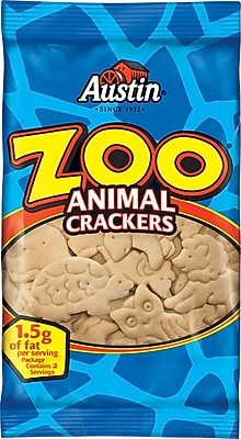 Austin Zoo Animal Crackers 2 oz. Bags 36 Bags Box