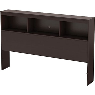 South Shore Cakao Collection Double Bookcase Headboard, Chocolate