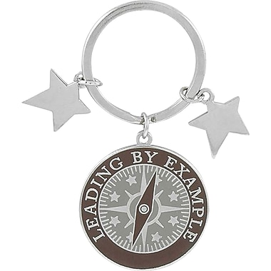 Baudville® in.Leading by Examplein. Colorful Silver Star Charm Key Chain