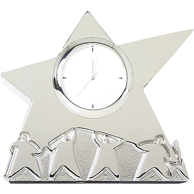 Baudville® Silver Team Star Desktop Clock
