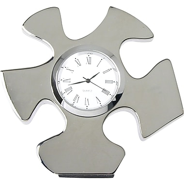 Baudville® in.Essential Piecein. Silver Puzzle Piece Desktop Clock