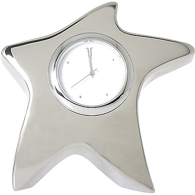 Baudville® Silver Star Desktop Clocks